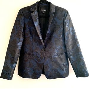 Judith & Charles blazer navyblue with rose pattern